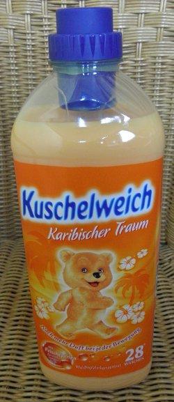 Kuschelweich karibischer Traum Weichspüler in der ein Liter Packung