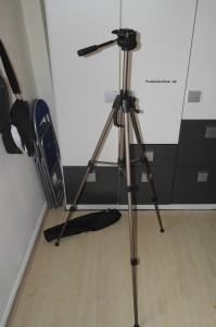 aufgebautes Kamerastativ